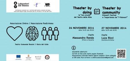 """Immagine di copertina di Theater by doing: la """"non-scuola"""" del Teatro delle Albe"""